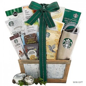 Starbucks Christmas Gift Basket to the USA