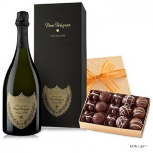 Dom Perignon and a Box of Truffles to the UK